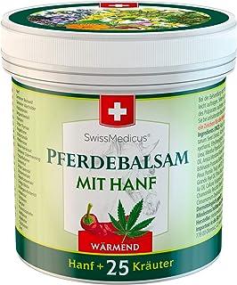 SwissMedicus - Bálsamo para caballos con cáñamo cálido, ideal para deportistas, receta tradicional suiza, extractos natura...