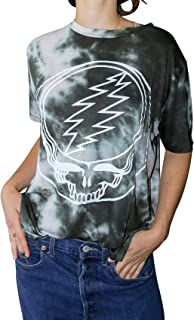 Women's Tops Olive Grateful Dead Skull Tie Dye Tee T Shirt