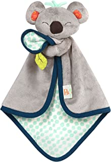 B. toys – B. Snugglies - Fluffy Koko The Koala Security Blanket – Adorable Baby Blankie with Soft Fabric – Bpa Free