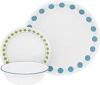 Corelle 18-Piece Service for 6, Chip Resistant, South Beach Dinnerware Set,