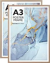 Cooper & Co. Homewares A3 Poster Photo Frames Set of 2, Oak