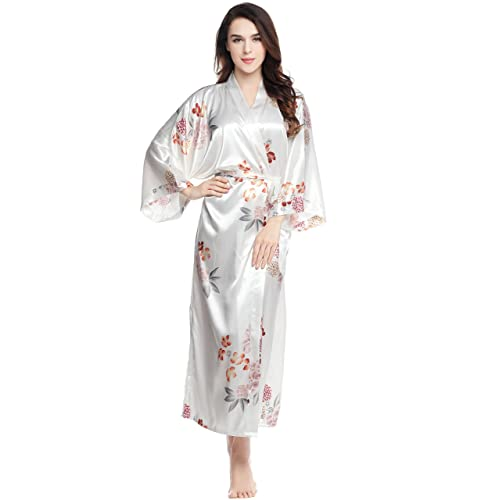 04e1fd6b52d34 ArtiDeco Women's Kimono Dressing Gown Satin Kimono Robe Long Chinese  Japanese Style for Nightwear Girl's Bonding