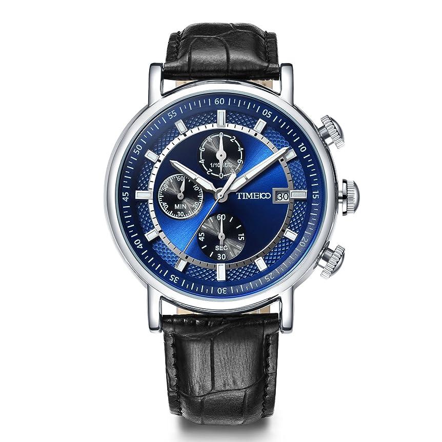 関係のれんキャプションTime100 腕時計 メンズ 多機能 レーシングシリーズ ストップウォッチ 日付表示 夜光インデックス W80091G.01A (ブルー)