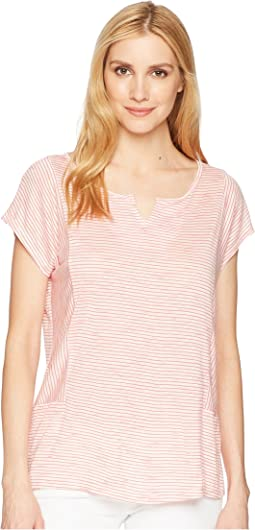 Tribal Stripe Knit Drop Shoulder Top