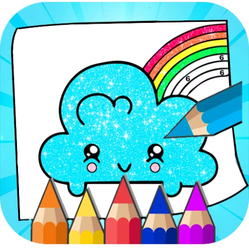 Cool Glitter coloring book forKawaii