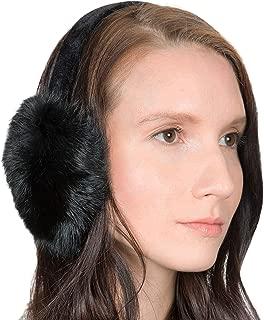 Genuine Fur Earmuffs | Luxurious Real Fur Over Ear Warmers with Headband | For Women, Teens, and Girls
