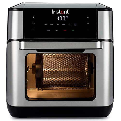 Instant Vortex Plus 7-in-1 Air Fryer Oven with built-in Smart Cooking Programs, Digital Touchscreen, Easy to Clean Basket, 10 Quart Capacity, and a Stainless Finish