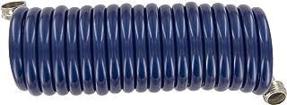 Plastair SpringHose PUW615B9-M-3-AMZ Light Polyurethane Lead Free Drinking Water Safe Marine/RV Recoil Hose, Blue, 3/8-Inc...