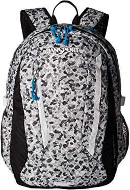 7072561e9a781 Jansport driver 8 wheeled backpack multi neon galaxy