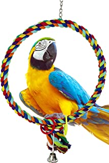 Bonka Bird Toys 1046 Huge 17 INCH Rope Ring Bird Toy Parrot cage Toys Cages Cockatoo Macaw