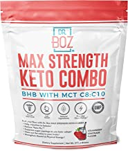 Dr. Boz goMCT Oil Powder with goBHB [Coconut goMCT Oil Powder+ Keto goBHB Powder] – Keto Supplement |Keto Shake – MAX Stre...