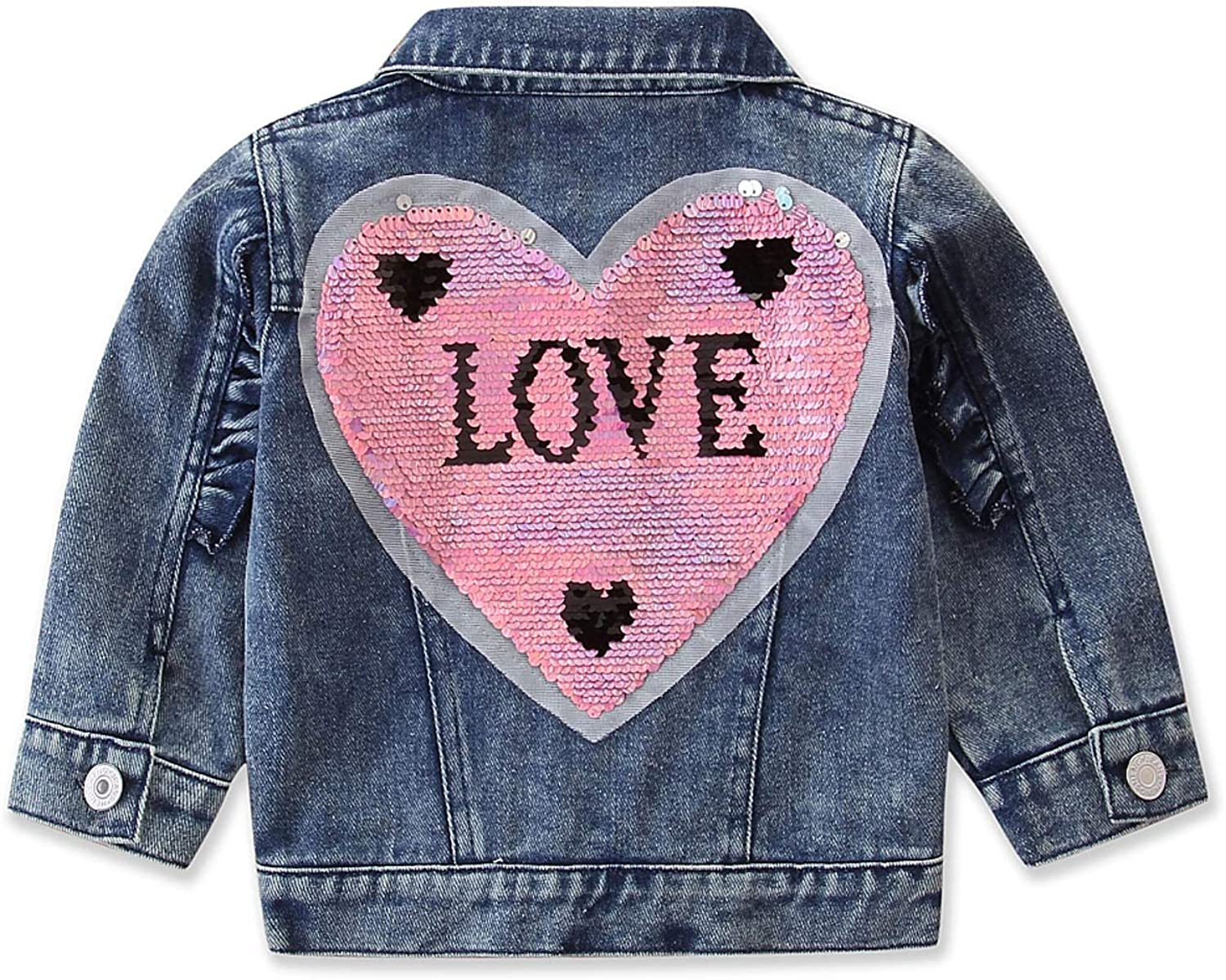 Toddler Baby Max 61% OFF Boys Girls Long Sleeve Denim A Coat Jacket Special price For Jean