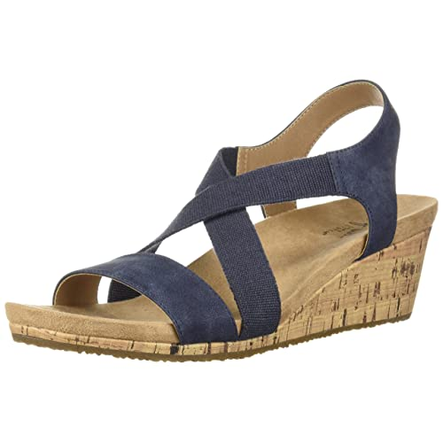f7b5bbe668173 Blue Wedge Sandals: Amazon.com
