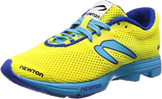 Newton Running Women's Neon Blue Running Shoes, Yellow Distance Elite W008218, 3 UK 35.5 EU