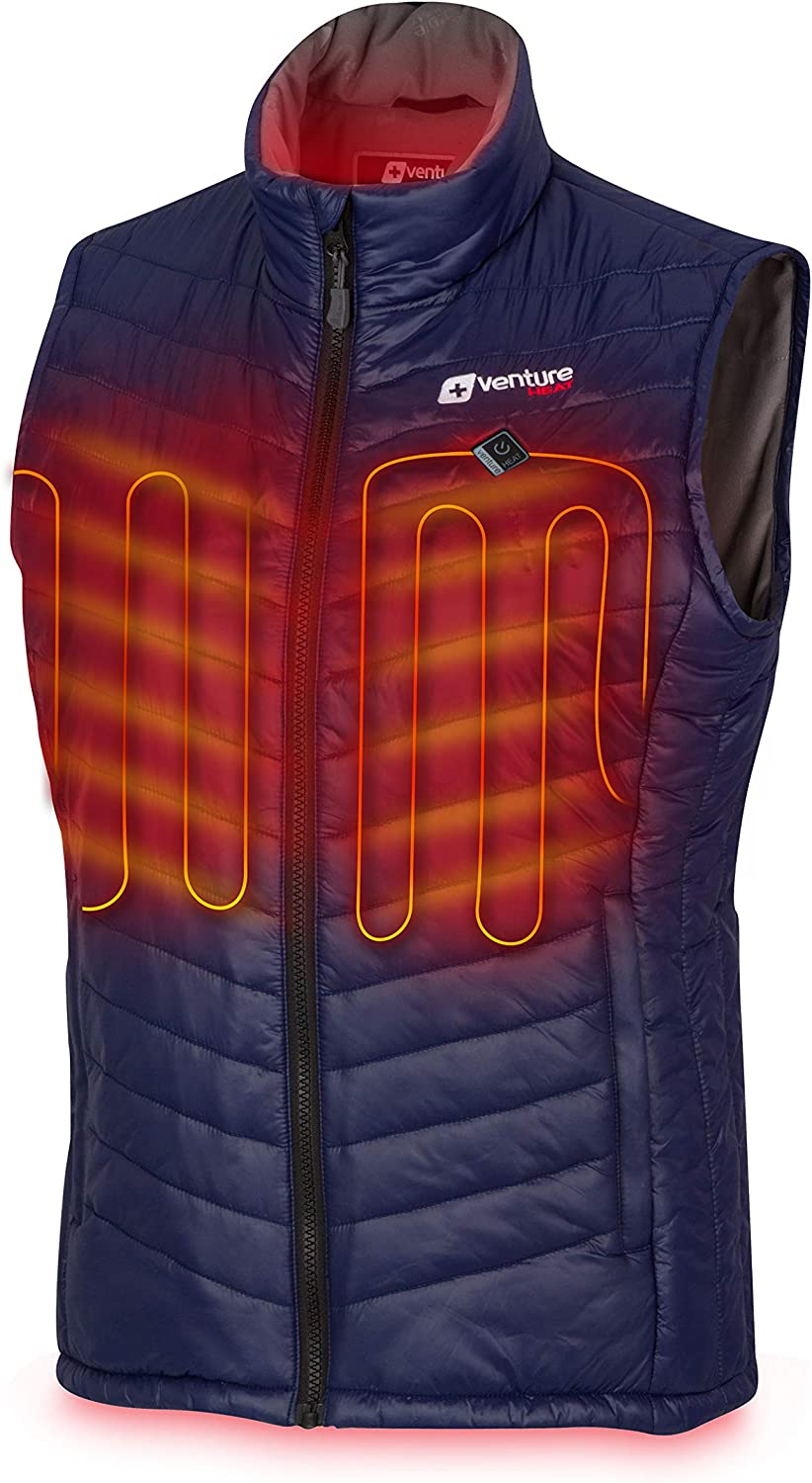 Venture Heat Women's Heated Vest with Battery Pack - Insulated Electric Jacket, Puffer Vest, Roam 2.0: Clothing