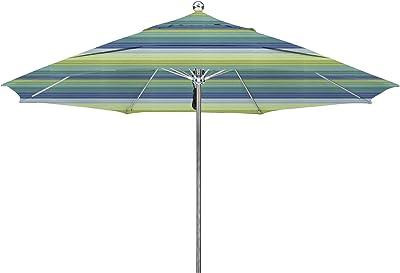 California Umbrella LUXY118-5608-DWV Stainless Steel Fiberglass Ribs, Seville Seaside Umbrella, 11' Round