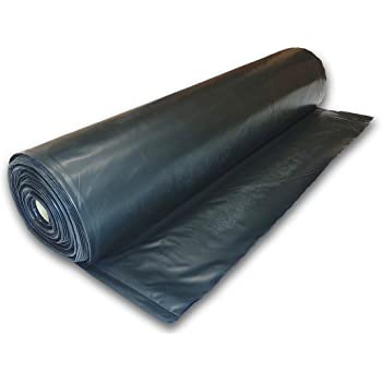 Plastic Poly Sheeting 5 Feet X 100 Feet True 10 Mil Black Incredibly Durable Top Visqueen Plastic Sheeting Amazon Com