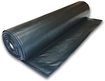 10 Mil 10 X 100 Black Plastic Sheeting 10 X 100 Amazon Com