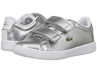 Lacoste Kids Carnaby Evo HL (Toddler/Little Kid) (Silver/White) Kids Shoes