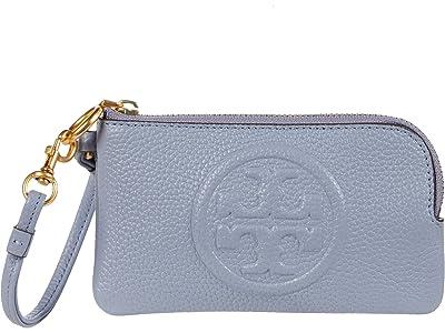Tory Burch Perry Bombe Top Zip Card Case (Cloud Blue) Handbags
