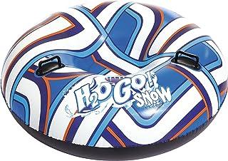 Bestway H2OGO! Snow Polarblitz 127 x 127 x 44 cm, luge gonflable multicolore au design léger et peu encombrant