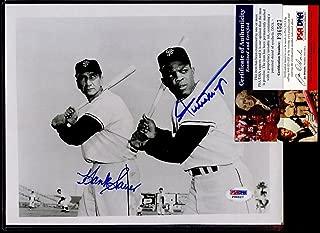 Willie Mays & Hank Sauer San Fran Giants Autographed 8 X 10 Photo PSA/DNA Cert - Autographed MLB Photos