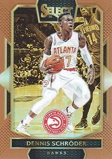 2016-17 Select Basketball Prizms Copper #213 Dennis Schroder 38/49 Atlanta Hawks