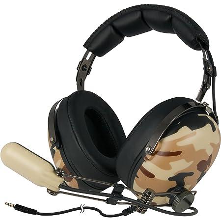 ARCTIC P533 Military – Cuffie Da Gioco Oltre l'Orecchio   Gaming Headset Over-Ear   Microfono a Braccio Con Controllo Volume   Jack da 3,5mm   Marrone