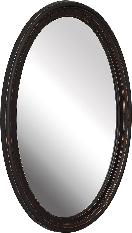 American Pride 9508VEN 9508VEN-Warwick Decorative Framed Oval Mirror Venetian 21  x 31 , Venitian Bronze