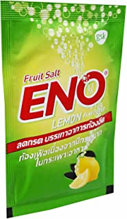 ENO, 20 Packets of ENO Sparkling Antacid Relief (Lemon Flavoured, Fruit Salt) for Indigestion, Flatulence. (4.3 G/Packet).