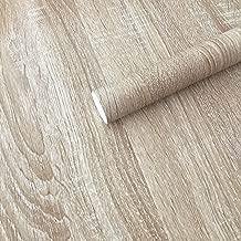 UPREDO Light Yellow Oak Wood Grain Wallpaper Peel Stick Vinyl Counter Top Paper Funitures Dresser Drawer Cabinet Sticker Decal 15.8inch by 79inch