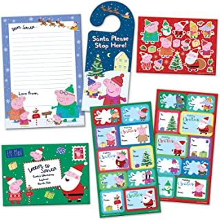 Paper Projects 01.70.24.067 Świnia Peppa Boże Narodzenie list do Świętego Mikołaja i etykiety prezentowe pakiet etykiet