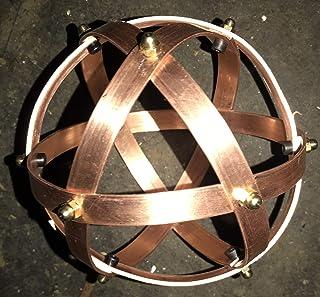 Genesa Crystal Rame Accessorio Portatile, 10cm di diametro, fasce larghe 10mm e spesse 1mm e fissate con dadi ciechi in ot...