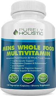 Multivitamin for Men â Daily Supplement 120 Capsules â Whole Food Multivitamin, Mens Multivitamin Organic, Vitamins, Minerals, Probiotics, Zinc, Selenium, Spirulina, Calcium, Turmeric, Magnesium