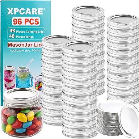 Details about  /Straws Bottles Lid Tinplate Canning Lids Mason Jar Lid Canning Cover Jar Caps