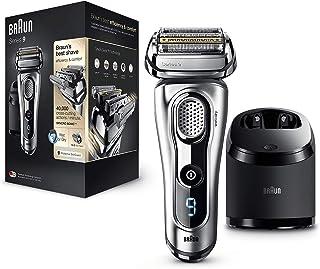 Braun Series 9 9290 cc - Afeitadora eléctrica hombre, para barba, estación de limpieza y carga Clean & Charge y funda viaje exclusiva, color plata