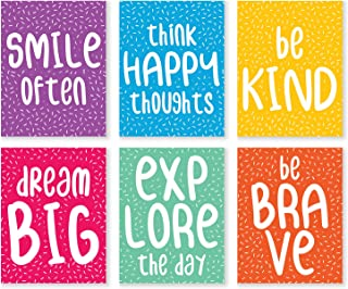 Damdekoli Motivational Inspirational Quote Prints, Set of 6, 8x10, Art Positive Life, Funny Typography Posters, Gift, Confetti