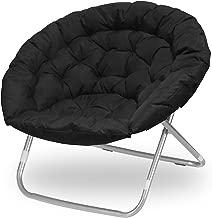 Urban Shop Oversized Saucer Chair, Black