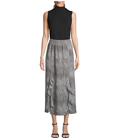 BB Dakota Never Ends Abstract Animal Printed Georgette Skirt (Taupe) Women