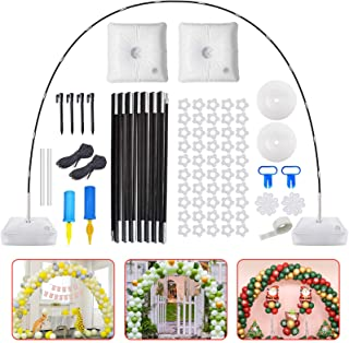 SHINLEYPACK Balloon Arch Kit,11.8Ft Tall & 13.1Ft Wide Adjustable Balloon Arch Stand,with Water Filling Base And Adjustabl...
