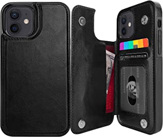 Pretocter for iPhone 12 & iPhone 12 Pro Wallet Case with Card Holder, Faux Leather Kickstand Card Slots Case, RFID Blockin...