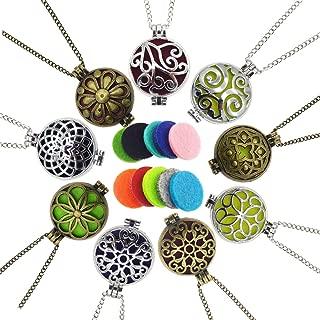 Bulk Sale 9pcs Aromatherapy Enssential Oil Diffuser Necklace Locket Pendants Gift