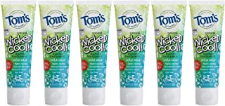 Tom's of Maine Natural Wicked Cool Fluoride Toothpaste, Mild Mint, 4.2 Ounce (Pack of 6)