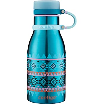 Contigo Maddie Double-Wall Vacuum Insulated Stainless Steel Kids Water Bottle, 12oz, Biscay Bay