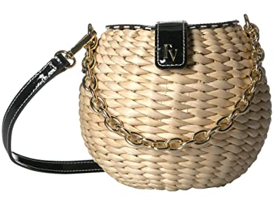 Frances Valentine Honeypot Crossbody (Black) Handbags