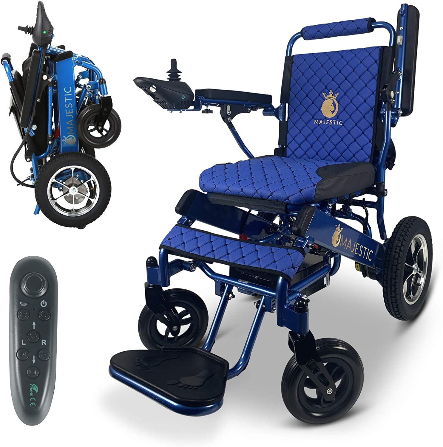 2020 Limited Edition Max 41% OFF Remote Regular store Foldable Wheelchair Electric Control