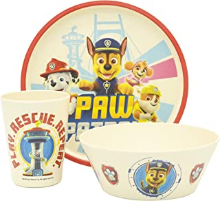 """Zak Designs Paw Patrol Dinnerware Set for Kids Includes 8"""" Plate, 6"""" Bowl, and 10oz Tumbler Durable and Sustainable Melami..."""