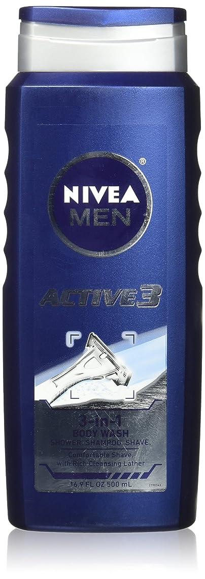 永久表示怖がって死ぬNIVEA MENS BODY WASH ACTIVE 3 16.9 OZ by Nivea Men