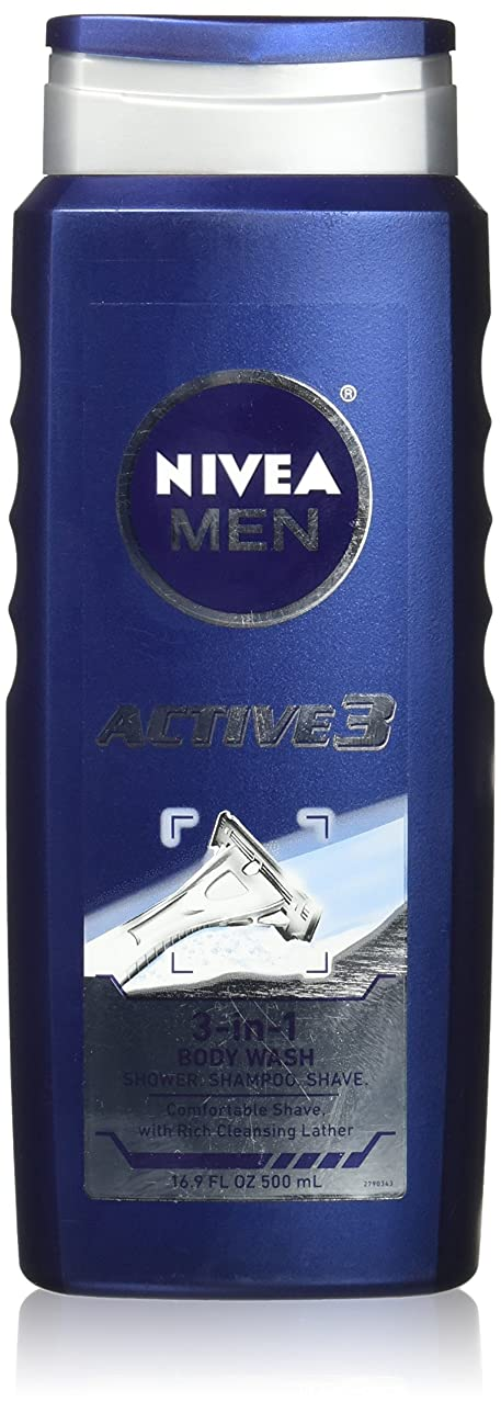 サイレントペネロペ解明するNIVEA MENS BODY WASH ACTIVE 3 16.9 OZ by Nivea Men