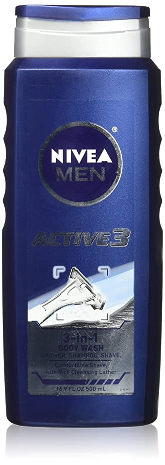 お嬢バドミントン置き場NIVEA MENS BODY WASH ACTIVE 3 16.9 OZ by Nivea Men